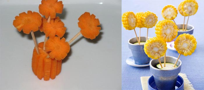 Поделки из цветов овощей фруктов в картинках