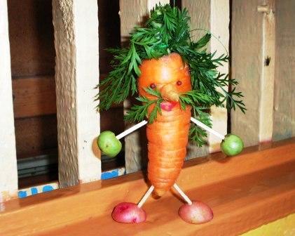 Поделки из фруктов и овощей своими руками для сада