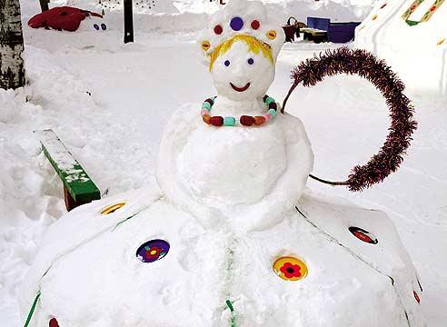 Дед мороз во дворе своими руками