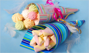 sweets for child in paper cones