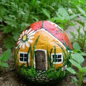 что рис сказоч домик в саду