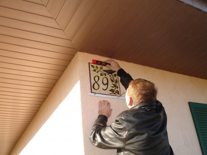 Номер дома табличка своими руками фото