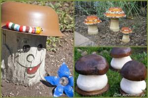 декор грибы