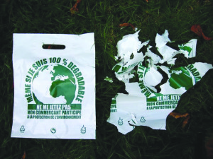 Plastic bag degrading process