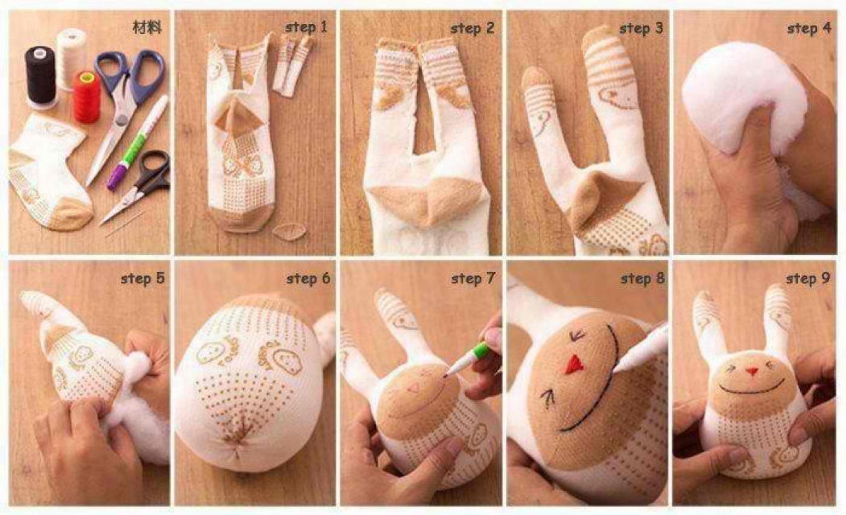 Как сделать подарок из носка