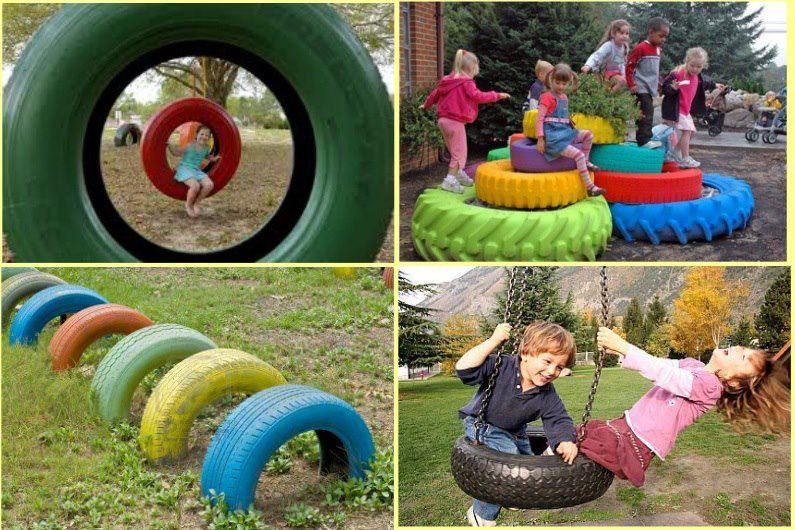 Идеи для детской площадки своими руками с фото